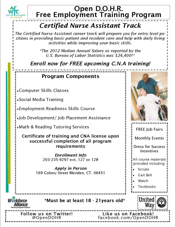 Free Upcoming Cna Training Meriden Ct Patch